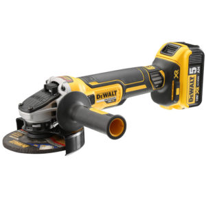 DEWALT DCG405P2-GB 18V; 5IN BRUSHLESS GRINDER; 5AH; 220V